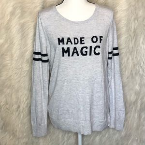 """Old Navy """"MADE OF MAGIC"""" crew neck sweater"""